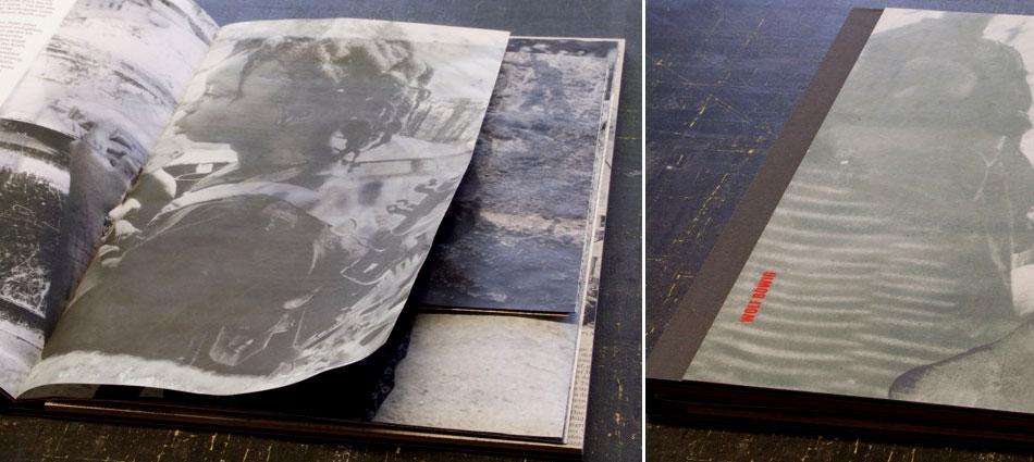 Folder zur Ausstellung - Fotos Wolf Böwig - Layout und Satz Christoph Ermisch - Buchbinderische Verarbeitung Inka Biedermann
